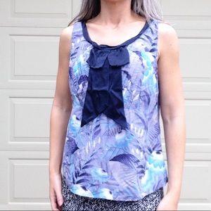 anthropologie ODILLE silk blend tank blouse L (F5)
